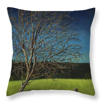 White Tree Of Worden Throw Pillow
