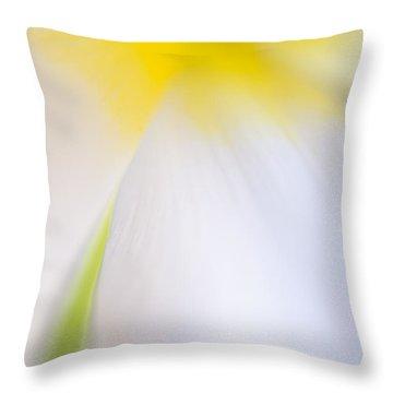 White Tulip Detail Throw Pillow by Silke Magino