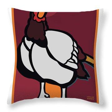 Ghost Turkey Throw Pillow