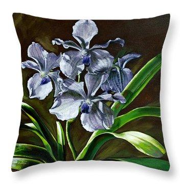 Morning Vanda Throw Pillow