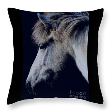 White Viking  Throw Pillow