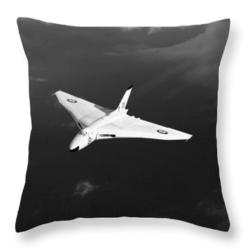 Throw Pillow featuring the digital art White Vulcan B1 At Altitude Black And White Version by Gary Eason