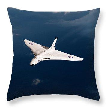 Throw Pillow featuring the digital art White Vulcan B1 At Altitude by Gary Eason