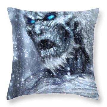 White Walker Throw Pillow by Taylan Apukovska