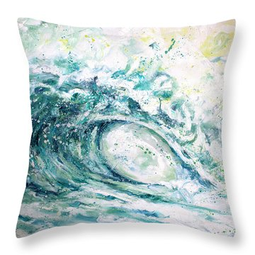 White Wash Throw Pillow