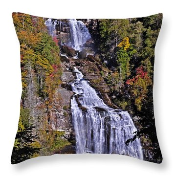 White Water Falls Throw Pillow