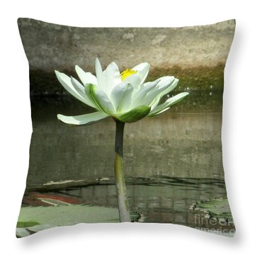 Throw Pillow featuring the photograph White Water Lily 2 by Randall Weidner
