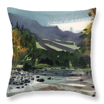White Water On The White River Throw Pillow by Donald Maier