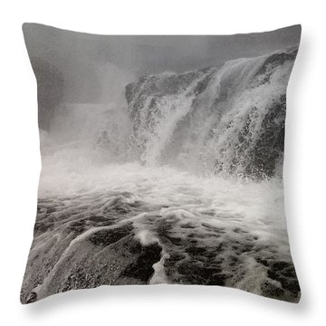 Throw Pillow featuring the photograph White Water by Raymond Earley