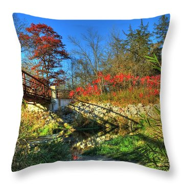 White Water State Park 2 Throw Pillow