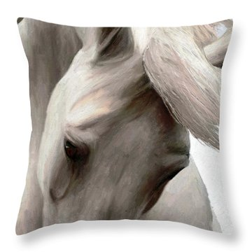 White Whisper Throw Pillow by James Shepherd