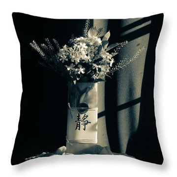 White Wildflowers In June Throw Pillow by Wendy Blomseth