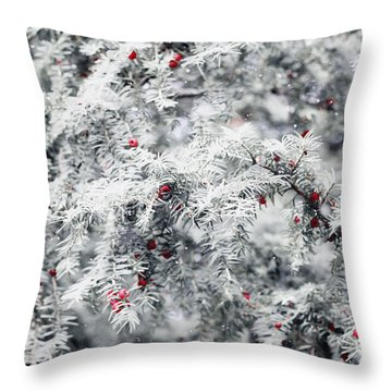 Throw Pillow featuring the photograph White Yew by Helga Novelli