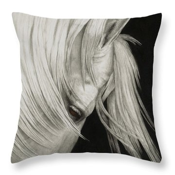 Whitefall Throw Pillow