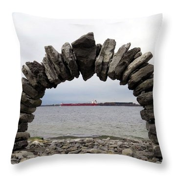 Whitefish Bay Under The Arch Throw Pillow