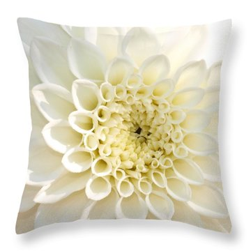 Whiteflow Throw Pillow