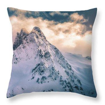 Whitehorse Clouds Throw Pillow