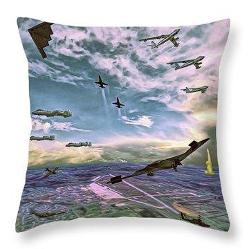 Whiteman Air Force Base Throw Pillow by Dave Luebbert