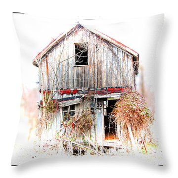Whiteout In Opequon Throw Pillow