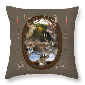 Whitetail Dreams Throw Pillow