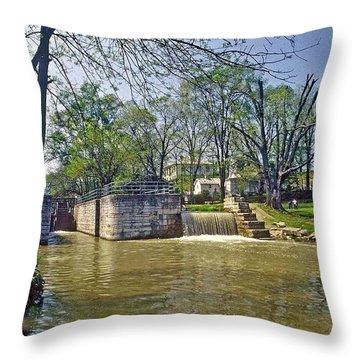 Whitewater Canal Metamora Indiana Throw Pillow