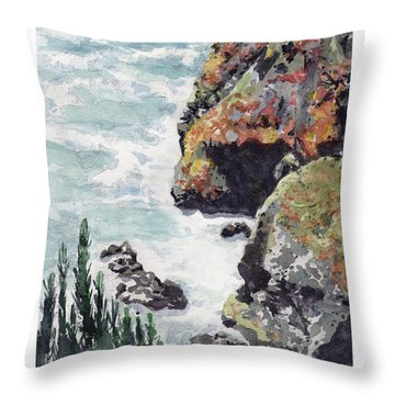 Whitewater Coast Throw Pillow