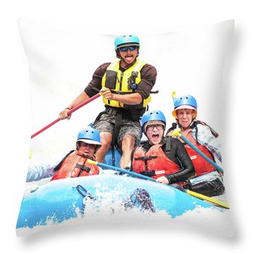 Throw Pillow featuring the photograph Whitewater Faces by Britt Runyon