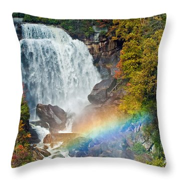 Whitewater Falls Throw Pillow