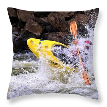 Whitewater On The New River Throw Pillow