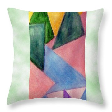 Whitewater Raft Throw Pillow