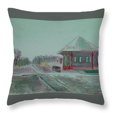 Whitewater Rail Station Throw Pillow