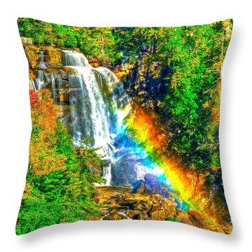 Whitewater Rainbow Throw Pillow