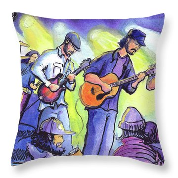 Throw Pillow featuring the painting Whitewater Ramble At The Barkley Ballroom by David Sockrider