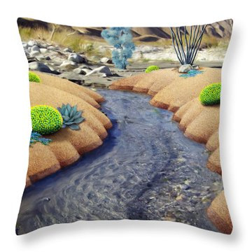 Whitewater Throw Pillow by Snake Jagger