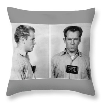 Whitey Bulger Mug Shot Throw Pillow by Edward Fielding