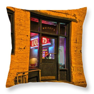 Whitey's Bar And Grill Throw Pillow