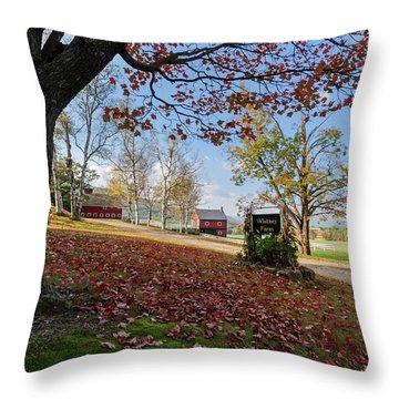 Whitney Farm Throw Pillow by Brett Pelletier