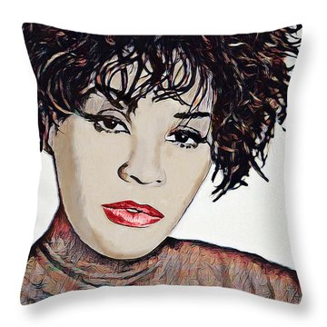 Throw Pillow featuring the digital art Whitney by Pennie McCracken
