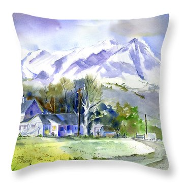 Whitney's White House Ranch Throw Pillow
