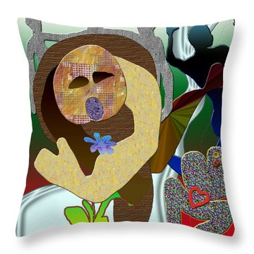 Whitout Title Throw Pillow