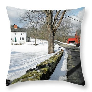 Whittier Birthplace Throw Pillow