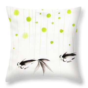 Who Cares About The Storm Above Throw Pillow