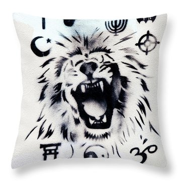 Throw Pillow featuring the photograph Who Do You Believe by Art Block Collections