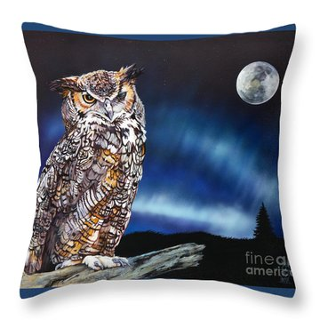 Who Doesn't Love The Night Throw Pillow