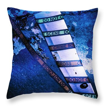 Who Done It Murder Mystery Throw Pillow