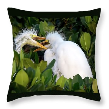 Who Gets To Eat First? Throw Pillow