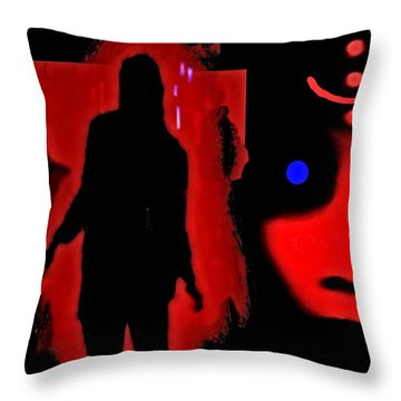 Who  Goes  There ? Throw Pillow