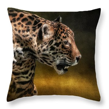Who Goes There Throw Pillow by Lois Bryan