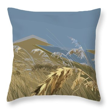 Throw Pillow featuring the digital art Who Has Seen The Wind? by Gina Harrison