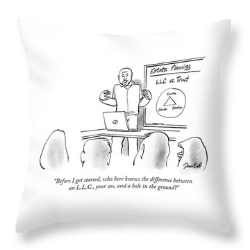 Who Here Knows The Difference Throw Pillow